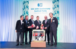 Koichi Chikaraishi, Representative Director of NYK Line, Capt. Lars Säfverström, GAC Group Co-Chairman, Lars Bergström, GAC Group Vice President for Asia Pacific & Indian Subcontinent, Bengt Ekstrand, GAC Group President, Björn Engblom, GAC Group Co-Chairman & Principal Trustee and Yasumi Kudo, Chairman, Chairman Corporate Officer of NYK Line