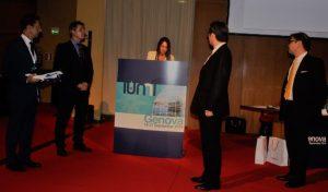 Cristina Castellini announces the handover.
