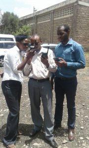 IEBC Staff using Thuraya SatSleeve+ during the elections