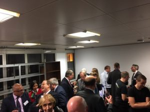 Intense networking and further discussions at the drinks and dips reception