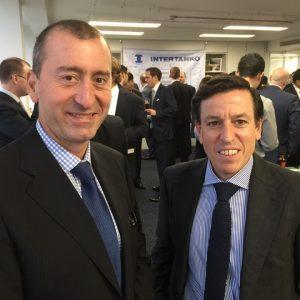 Gard's Michael Kougellis with Bureau Veritas' London office head Yannis Calogeras