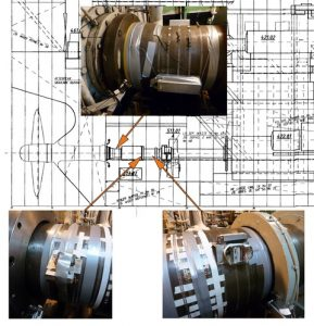 Performance measurement kit installed on the propeller shaft of the subject vessel