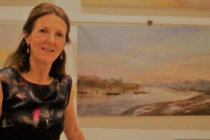 Lynda Minter with 'Wandsworth, early morning.'