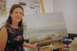 Lynda Minter in her studio.