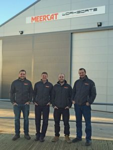 Meercat managing director Jason Coltman, second left, with key staff at new premises
