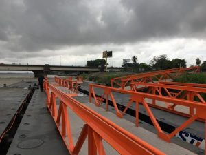 Mooring Pontoons with ramps delivered at location