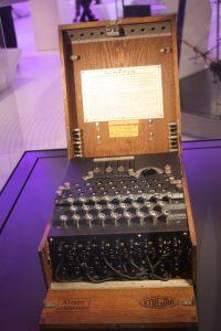 Enigma code machine.