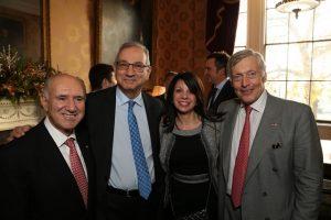 Markos K. Marinakis (Marinakis Chartering Inc.), Lambros Varnavides (Baltic Exchange), Dorothea G. Ioannou, Joseph E.M. Hughes (The American Club)