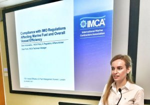 Eleni Antoniadou speaking at the 15th Vessel Efficiency & Fuel Management Summit