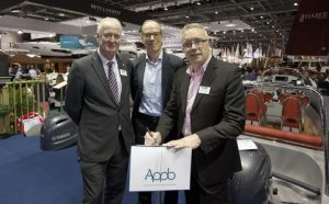 Howard Pridding, Brienc Morin and Jonathan Fielding at the London Boat S.how