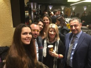 l to r: iris Liaskoni from Seascape, the Greek Consul Sotiris Demestichas, personal trainer Maggie Gerakari, ERT's Radio Natasha Kantzavelou, Anny Zade and ALBA's Spyros Vougious