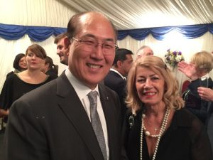 IMO's Secretary-general with Anny Zade