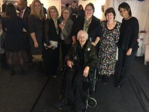 A strong WISTA-UK presence with guests too; l to r: Aggeliki Koutoulia, Anny Zade, Graciete Amaro, Maria Dixon, Sue terpilowski (president) and