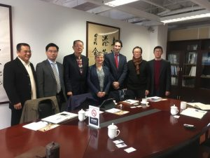 (IMarEST President, Dr Jane Smallman and IMarEST Director of Asia Pacific meet the Shanghai International Shipping Center Development & Promotion Organization at their offices in Shanghai