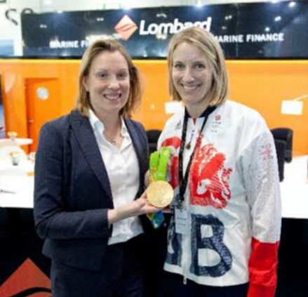 Tracey Crouch MP and Saskia Clark MBE; Right image: