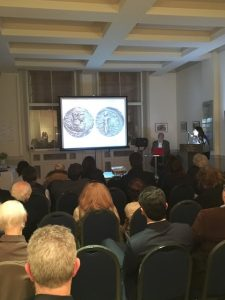 The Skouras' delivering their illustrated lecture