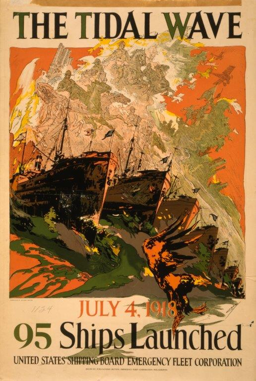 Patriotic poster, 1918. (Library of Congress).